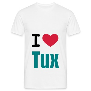 I Love Tux Shirt - Mannen T-shirt