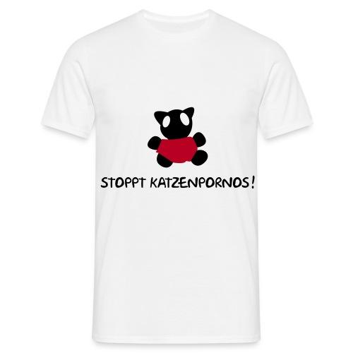 Stoppt Katzenpornos - Männer T-Shirt