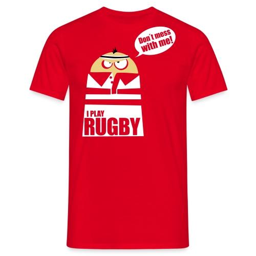 Männer T-Shirt Motiv: I play Rugby - Männer T-Shirt