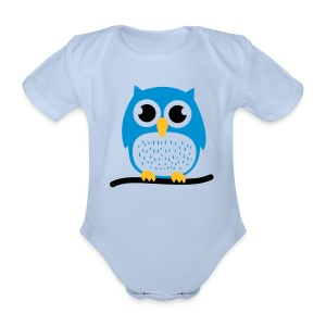 Organic Short-sleeved Baby Bodysuit - Baby,blue,one-piece