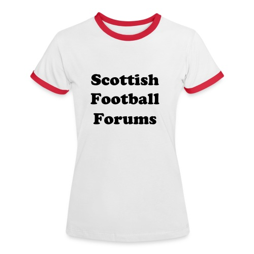 Scottish Football Forums Women's T-Shirt - Women's Ringer T-Shirt