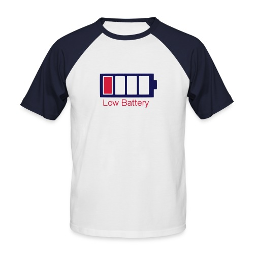 Low Battery MC M Red White - T-shirt baseball manches courtes Homme