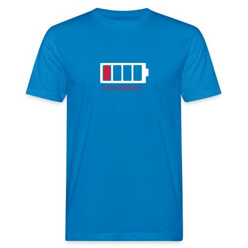 Low Battery MC M Blue - T-shirt bio Homme