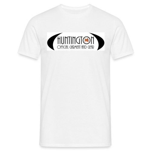 huntington branded t-white - Männer T-Shirt