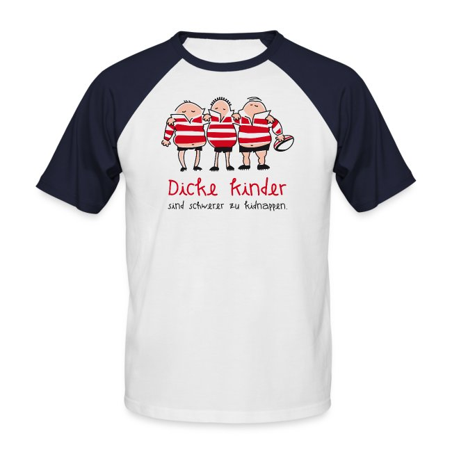 Männer Baseballshirt Motiv: Dicke Kinder
