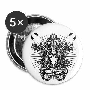 Buddha - Buttons groß 56 mm