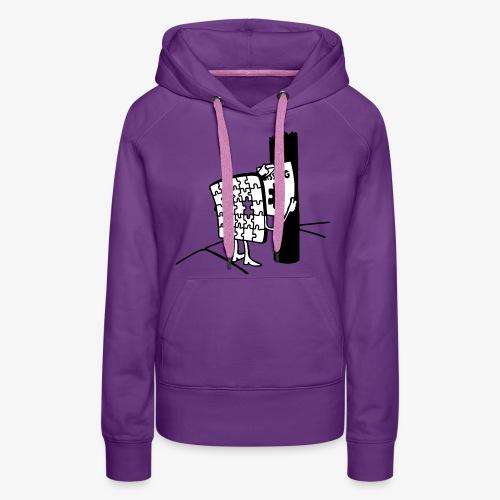 Puzzle Missing, Vermißt ein stück seiner selbst Pullover - Frauen Premium Hoodie