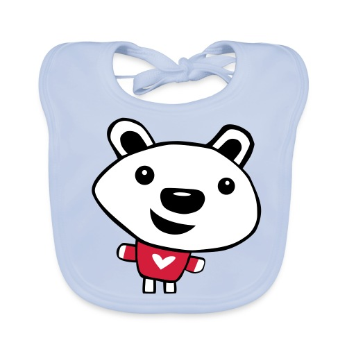 Happy Polar Bear - Baby Organic Bib
