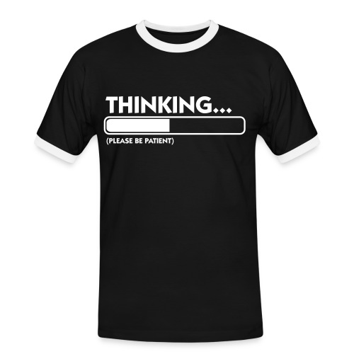 B&W Thinking - T-shirt contrasté Homme