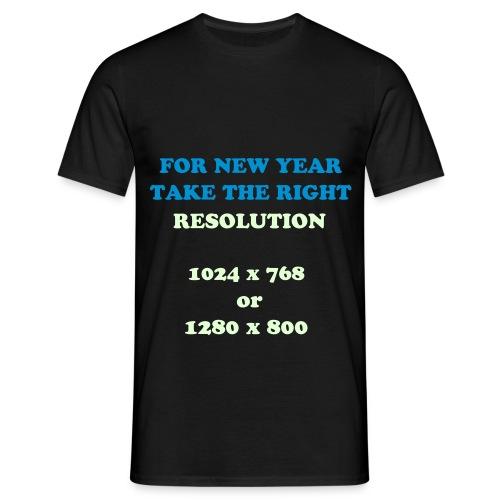 T shirt Homme : Resolution - T-shirt Homme