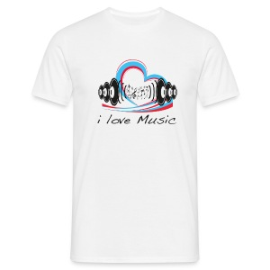 Men's Classic T-Shirt i Love Music - Men's T-Shirt