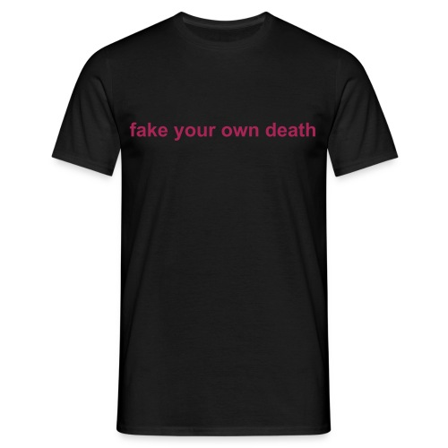 Spikestrip Fake Your Own Death Black/Pink Tee - Men's T-Shirt