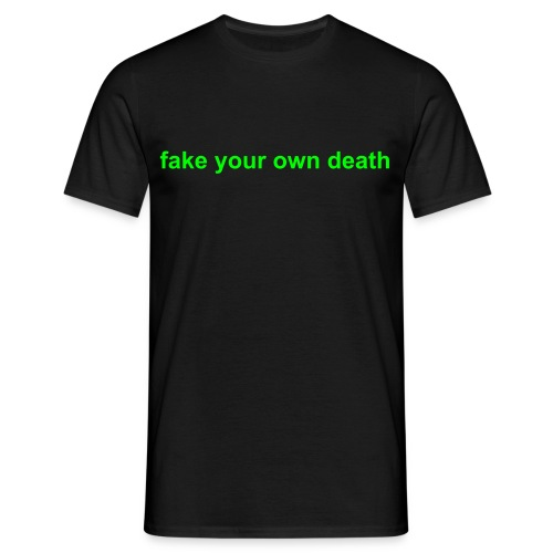 Spikestrip Fake Your Own Death Black/Green Tee - Men's T-Shirt