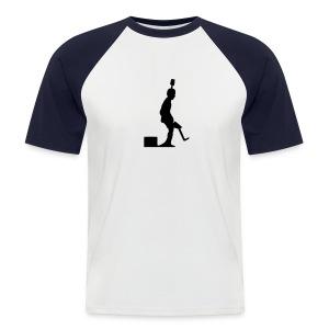 Pro Kicker (w/b) - Männer Baseball-T-Shirt