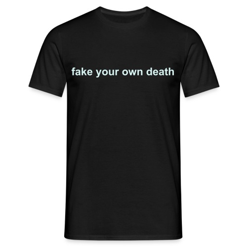 Spikestrip Fake Your Own Death Black/Special Effect Tee - Men's T-Shirt