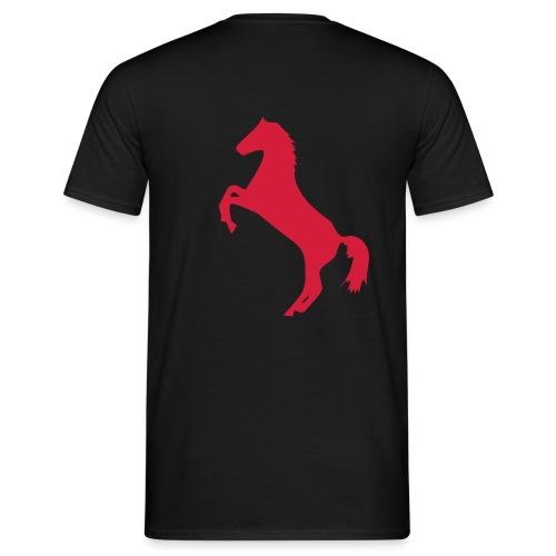 Rearing horse black tee - Men's T-Shirt