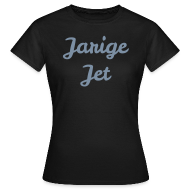 T-shirts ~ Vrouwen T-shirt ~ Jarige Jet - Zilver-metallic