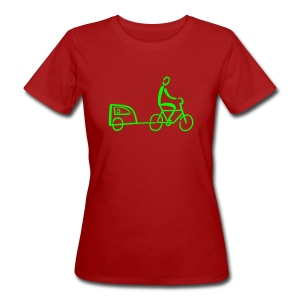 Fahrradanhänger Shirt - Frauen Bio-T-Shirt