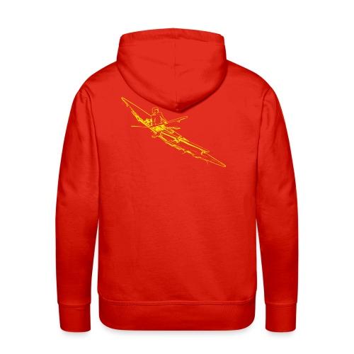 Sweat-shirt à capuche Premium pour hommes - dessin du kayak répertorié par Howard Chapelle