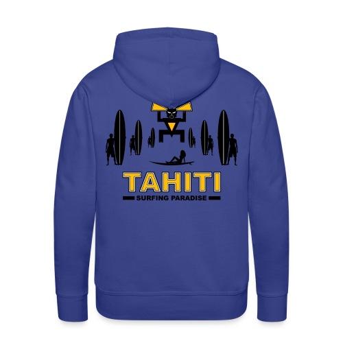 tahiti surfing sweatshirt - Men's Premium Hoodie
