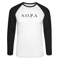 Long sleeve shirts ~ Men's Long Sleeve Baseball T-Shirt ~ SOPA Funny Shirt - Long Sleve