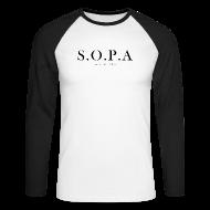 Long sleeve shirts ~ Men's Long Sleeve Baseball T-Shirt ~ SOPA Funny Shirt - Long Sleve