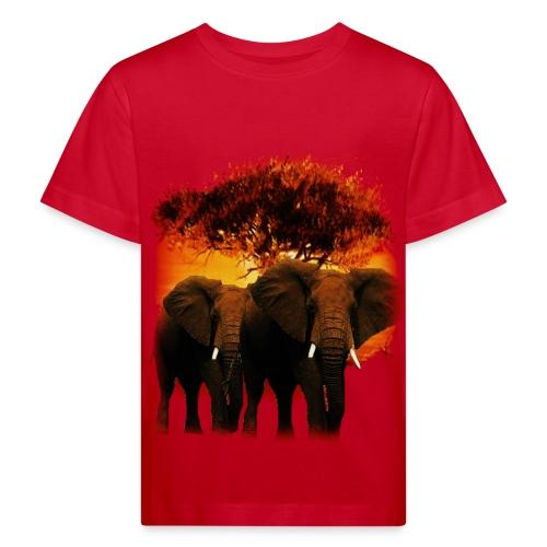 T shirt enfant éléphants - T-shirt bio Enfant