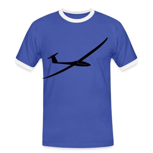 T-Shirt mit Segelflugzeug 4 - Männer Kontrast-T-Shirt