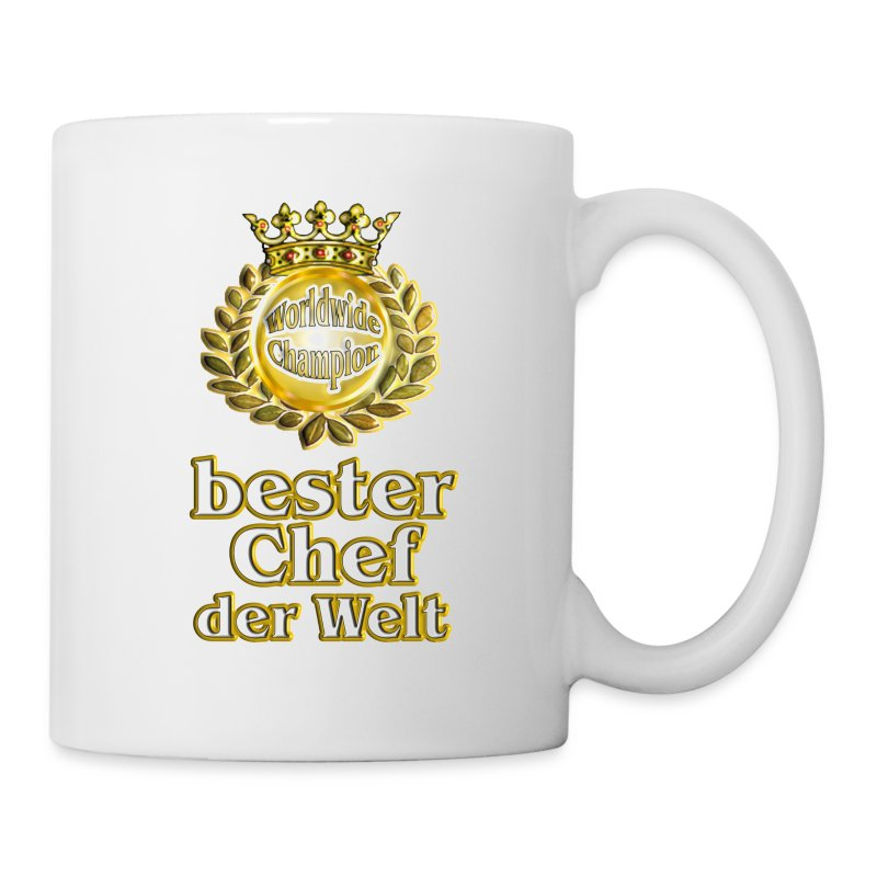 bester chef der welt goldene serie tasse spreadshirt. Black Bedroom Furniture Sets. Home Design Ideas