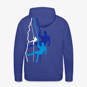 Drei Abseiler - blau (men) - Männer Premium Hoodie