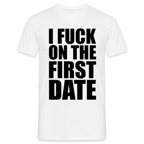 First date - T-skjorte for menn