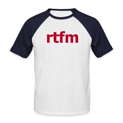 rtfm - T-shirt baseball manches courtes Homme