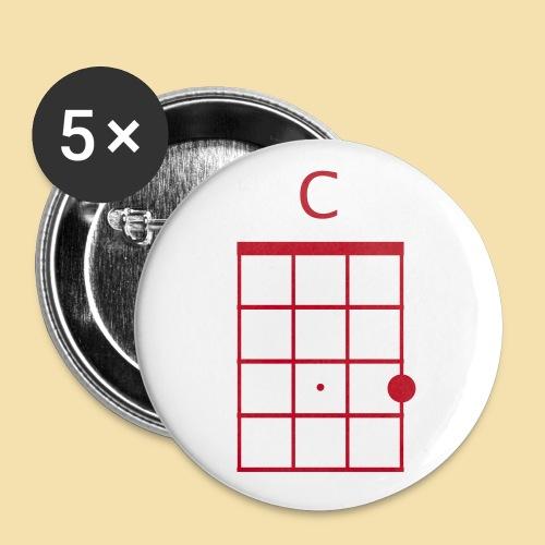 Button: C-Dur (Motiv rot)   - Buttons klein 25 mm