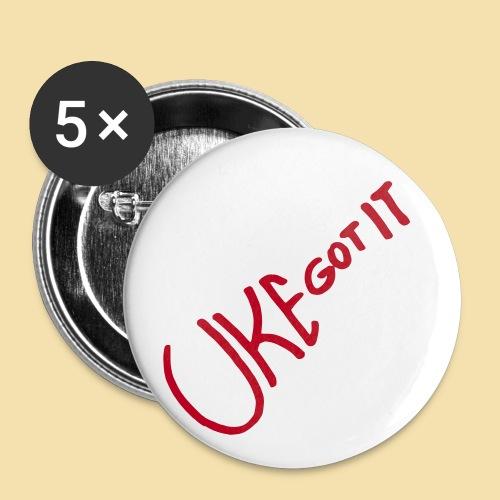 Button: Uke got it (Motiv rot)   - Buttons groß 56 mm (5er Pack)