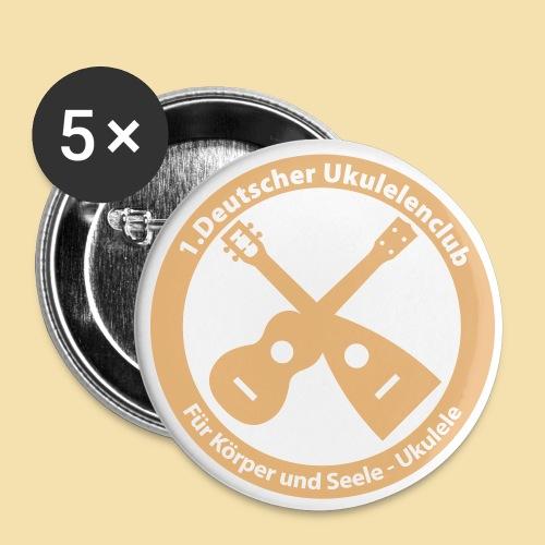 Button: Ukulelenclub (Motiv beige)   - Buttons groß 56 mm (5er Pack)