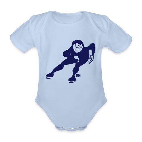 Speed skater - Organic Short-sleeved Baby Bodysuit