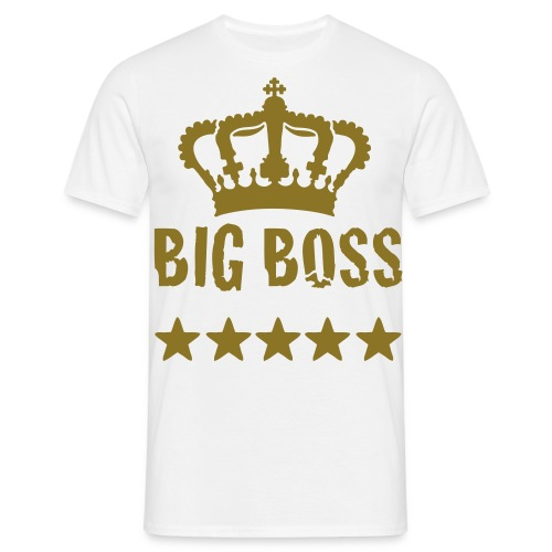 AV - Tee - Big Boss - White/Gold - Men's T-Shirt