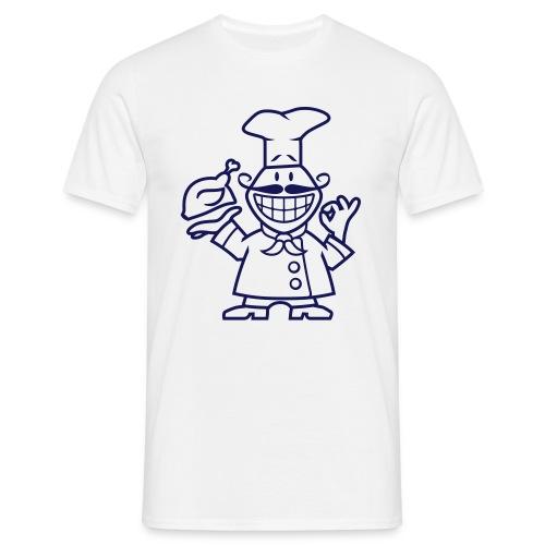 Männer T-Shirt - Glück beginnt in der Küche.