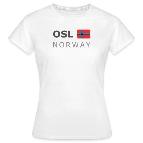 Women's T-Shirt OSL NORWAY dark-lettered - Women's T-Shirt