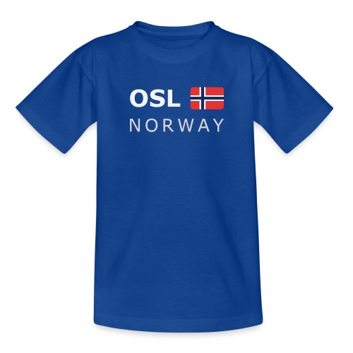 Teenager T-Shirt OSL NORWAY white-lettered - Teenage T-shirt