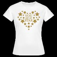 T-shirts ~ Vrouwen T-shirt ~ You are my star - Goud fijn glitter