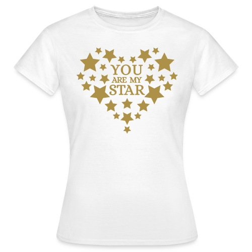 You are my star - Goud fijn glitter - Vrouwen T-shirt