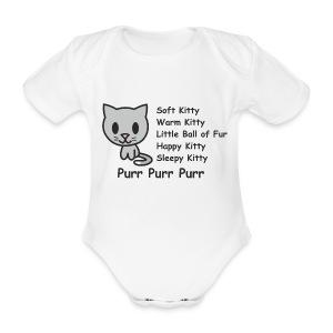 Soft Kitty - Organic Short-sleeved Baby Bodysuit
