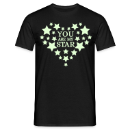 T-shirts ~ Mannen T-shirt ~ You are my star - Glow in the dark