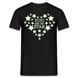 You are my star - Glow in the dark - Mannen T-shirt
