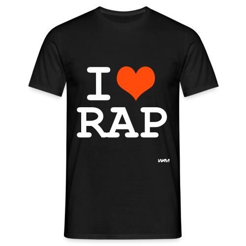 Maglietta I LOVE RAP Rapper italiani - Maglietta da uomo