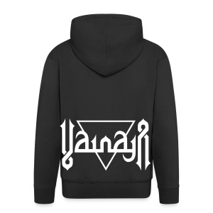Vainaja Logo White Zipper Hoodie - Men's Premium Hooded Jacket