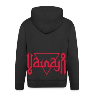 Vainaja Logo Red Zipper Hoodie - Men's Premium Hooded Jacket