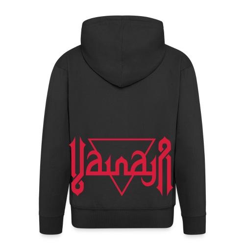 Vainaja Logo Red Zipper Hoodie - Men's Premium Hooded Jacket