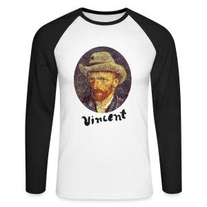 Vincent van Gogh Men's Raglan Long Sleeve - Mannen baseballshirt lange mouw